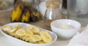 plátano helado desperdicio